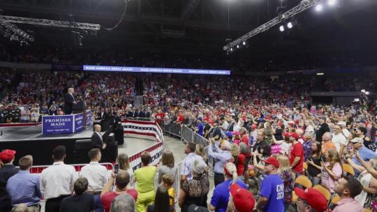 President Trump campaigns in West Virginia. August 21, 2018 (twitter/realDonaldTrump)