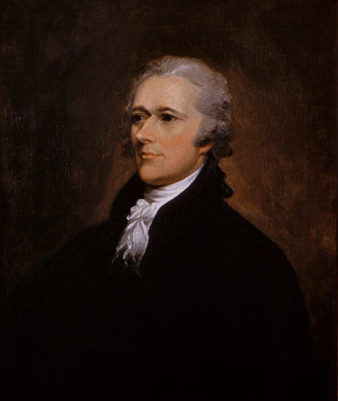 Alexander Hamilton portrait by John Trumbull (1806)