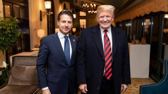 President Donald J. Trump and Prime Minister Giuseppe Conte of Italy prior to the G7 Cultural Event at the Fairmont Le Manoir Richelieu, in Charlevoix, Canada. (Official White House Photo by Shealah Craighead)