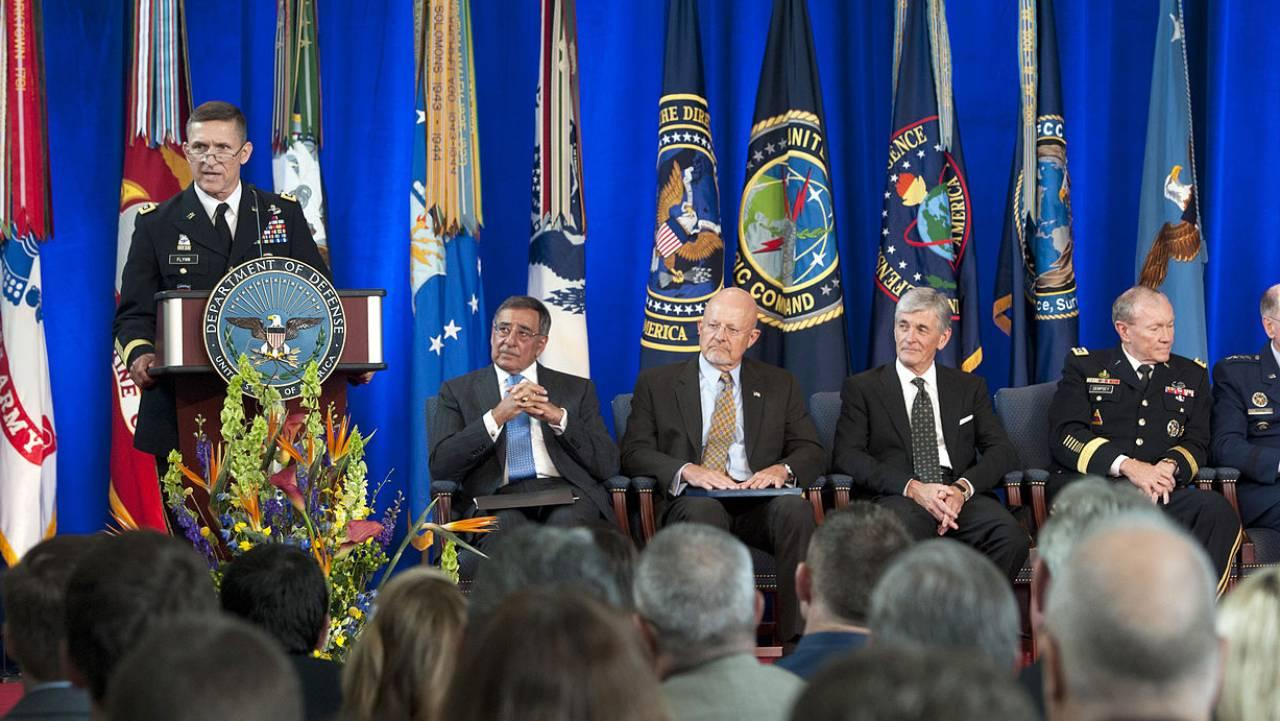 Army Lt. Gen. Michael T. Flynn speaks during the change of directorship for the Defense Intelligence Agency on Joint Base Anacostia-Bolling in Washington, D.C., July 24, 2012. (DoD Photo)