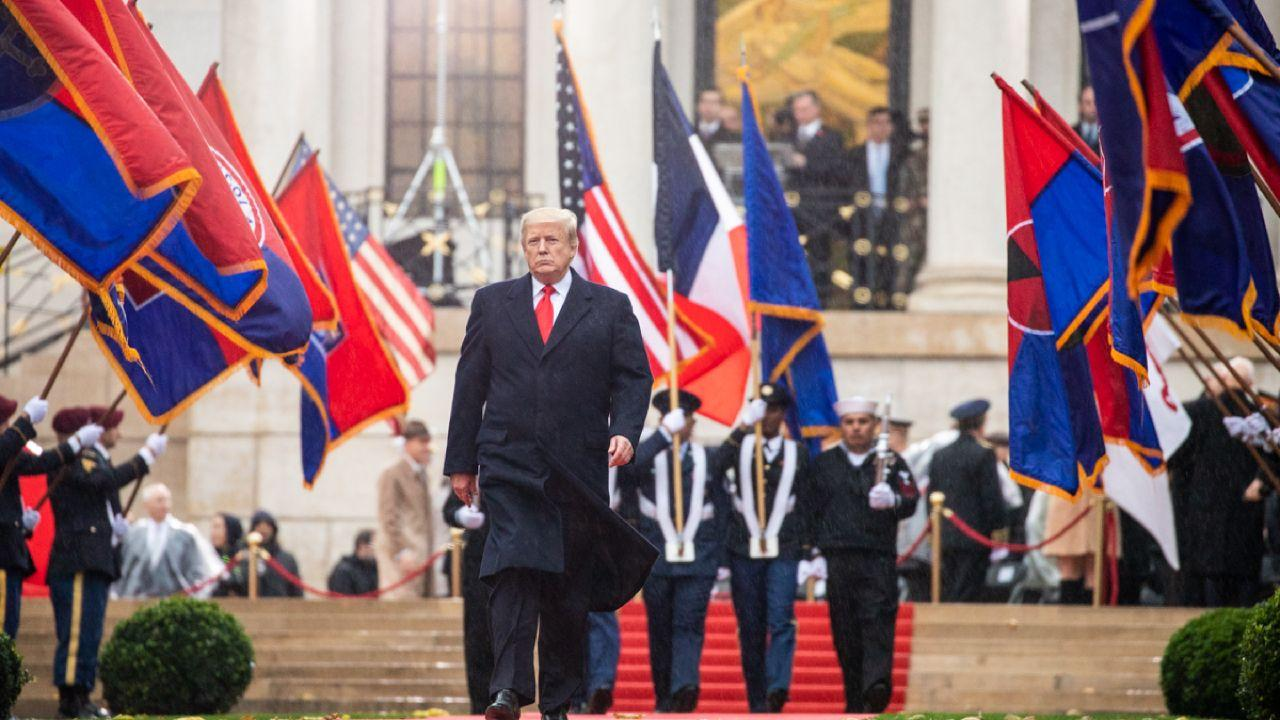 President Donald J. Trump at the American Commemoration Ceremony at Suresnes American Cemetery Sunday, Nov. 11, 2018 (Official White House Photo by Shealah Craighead)