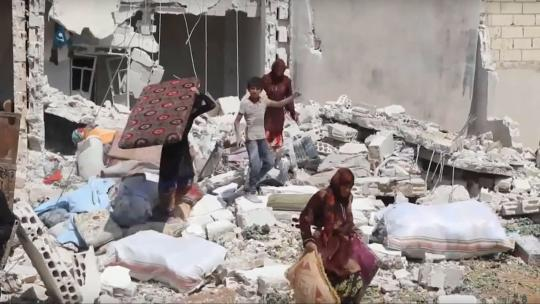 Realities of warfare on the ground in Idlib province, Syria - June 11, 2018 (Qasioun News Agency/Screengrab)