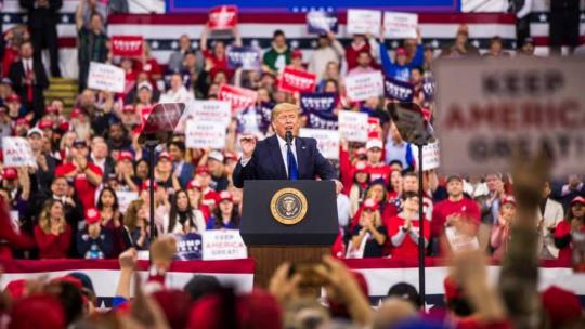 President Trump hold a rally for his 2020 Presidential Campaign in Milwaukee, WI. Jan. 14, 2020 (Donald J. Trump / Facebook)