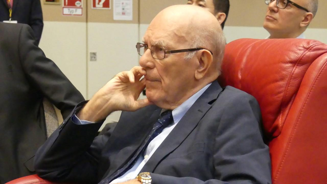 Lyndon LaRouche seen here attending a Schiller Institute Conference in Bad Soden, Germany. July 2018 (Michelle Rasmussen/EIRNS)