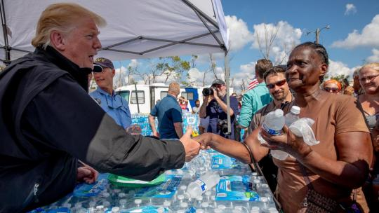 President Donald J. Trump and First Lady Melania Trump tour hurricane-ravaged Lynn Haven, Florida Monday, Oct. 15, 2018. (Official White House Photo by Shealah Craighead)