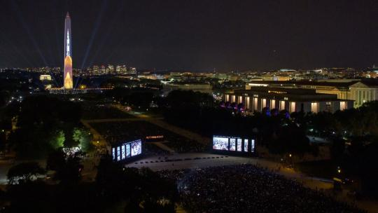 "The 50 year anniversary of the Apollo 11 mission with NASA astronauts Neil Armstrong, Michael Collins, and Buzz Aldrin is celebrated in a 17-minute show, ""Apollo 50: Go for the Moon."" Friday, July 19, 2019 in Washington. Photo Credit: (NASA/Bill Ingalls)"