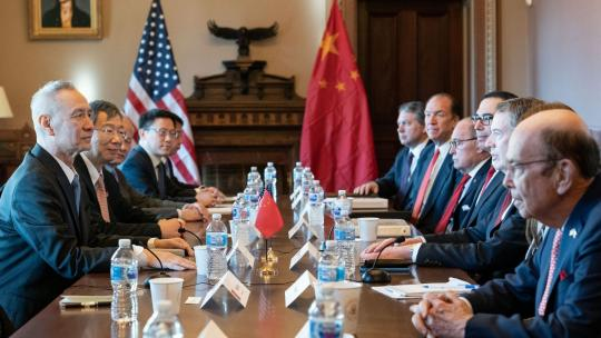 United States Trade Representative Ambassador Robert Lighthizer, senior staff and cabinet members meet with Chinese Vice Premier Liu He and members of his delegation for the U.S. – China trade talks, Jan. 30, 2019.
