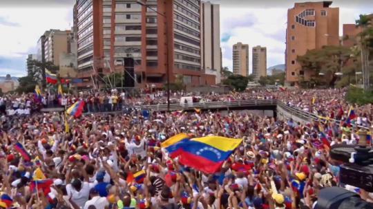 Si se puede march in Caracas, Venezuela. January 23, 2019 (VOA)