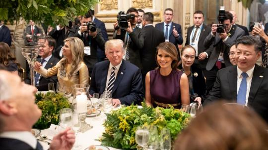 President Donald J. Trump and First Lady Melania Trump join fellow G20 leaders, spouses and guests Friday evening, Nov. 30, 2018, at the Teatro Colon in Buenos Aires, Argentina. (Official White House Photo by Andrea Hanks)