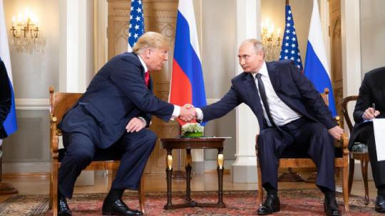 President Donald J. Trump and President Vladimir Putin of the Russian Federation | July 16, 2018 (Official White House Photo by Shealah Craighead)