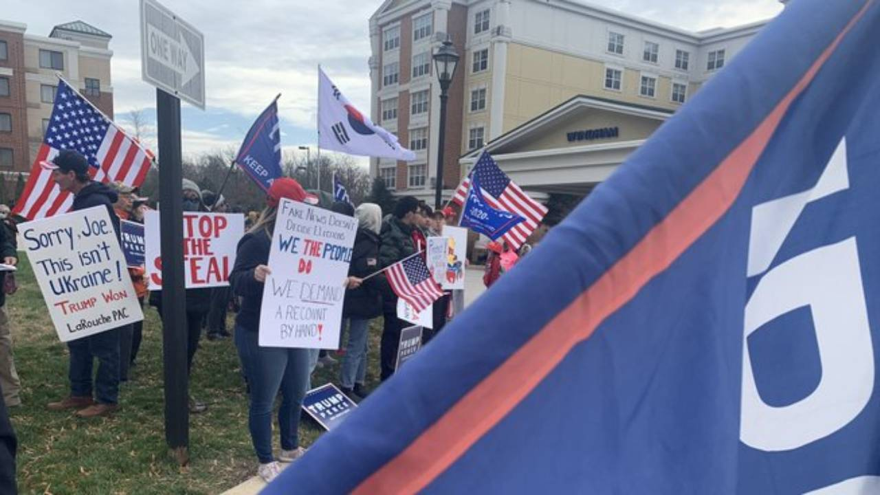 LaRouche PAC and other Trump supporters rally in Gettysburg. November 25, 2020 Photo: LaRouche PAC