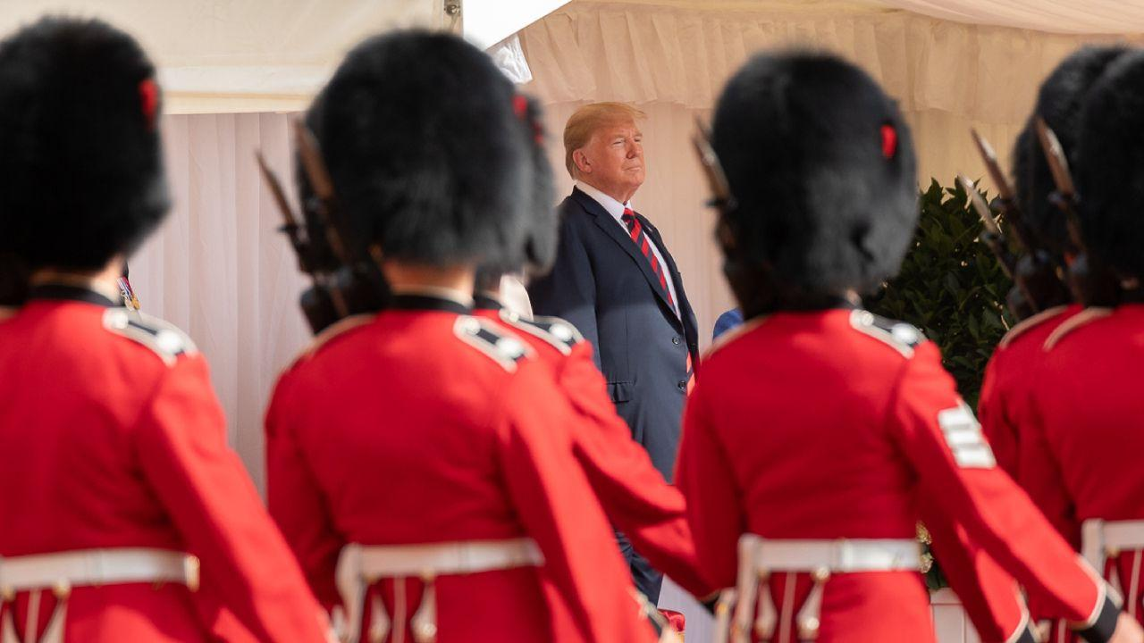 President Donald J. Trump and Queen Elizabeth II (invisible) | July 13, 2018 (Official White House Photo by Andrea Hanks)