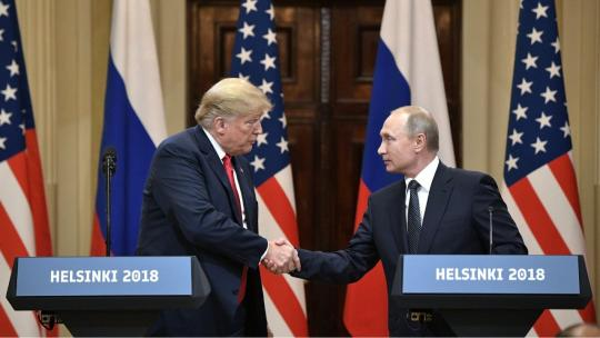 Vladimir Putin and Donald Trump made press statements and answered journalists' questions. July 16, 2018 Helsinki (en.kremlin.ru)