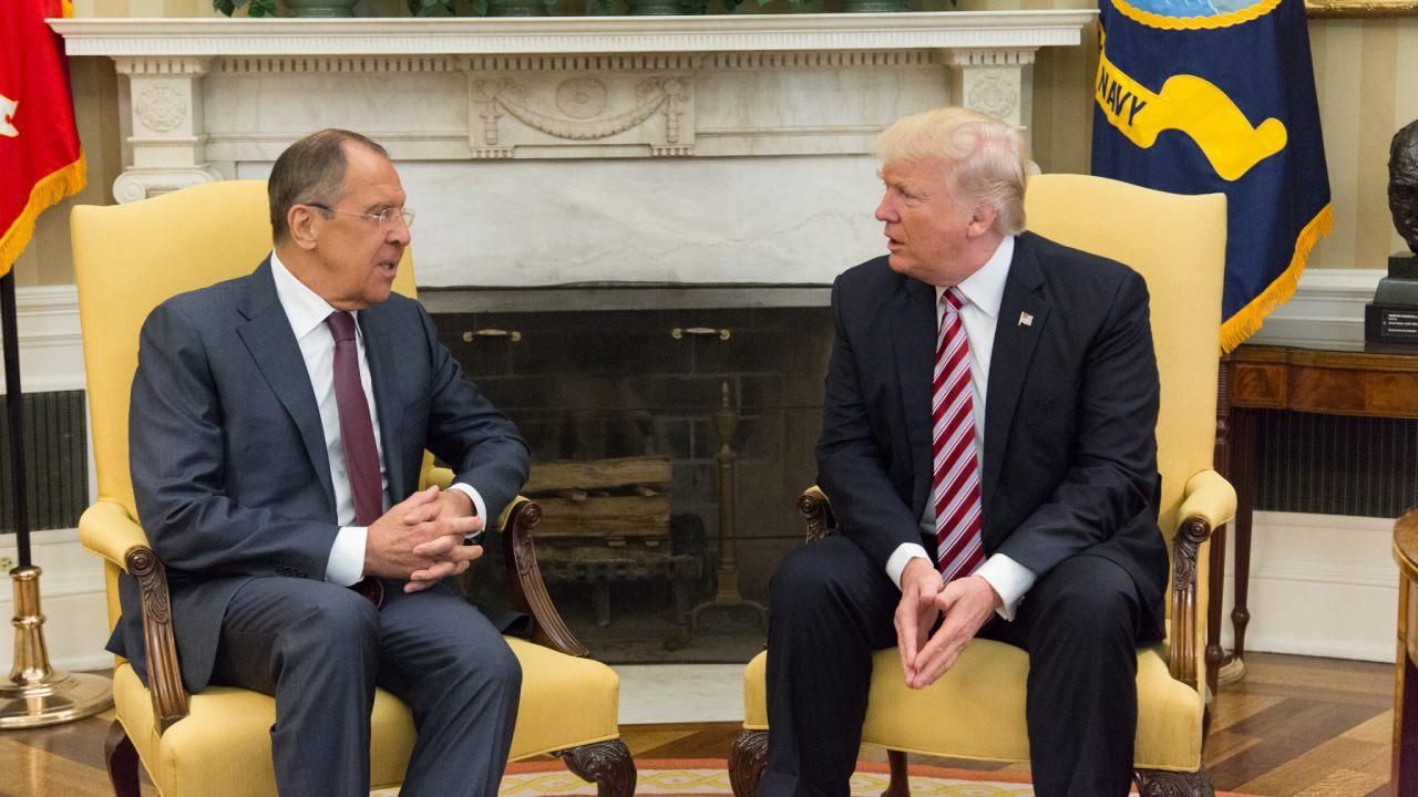Russian Foreign Minister Lavrov Meets with US President Donald Trump in the Oval Office of the White House, May 10, 2019.