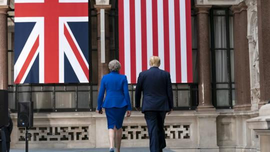 President Donald J. Trump participates in a joint press conference with British Prime Minister Theresa May Tuesday, June 4, 2019, at No. 10 Downing Street in London. (Official White House Photo by Shealah Craighead)