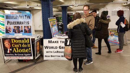 LaRouchePAC organizing in NYC. November, 2018 [Eli Santiago / LaRouchePAC]