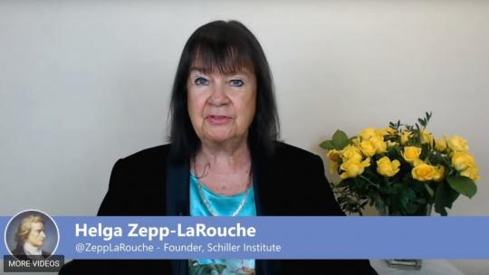 Helga Zepp-LaRouche during her New Year's 2019 Address. (EIRNS/Framegrab)