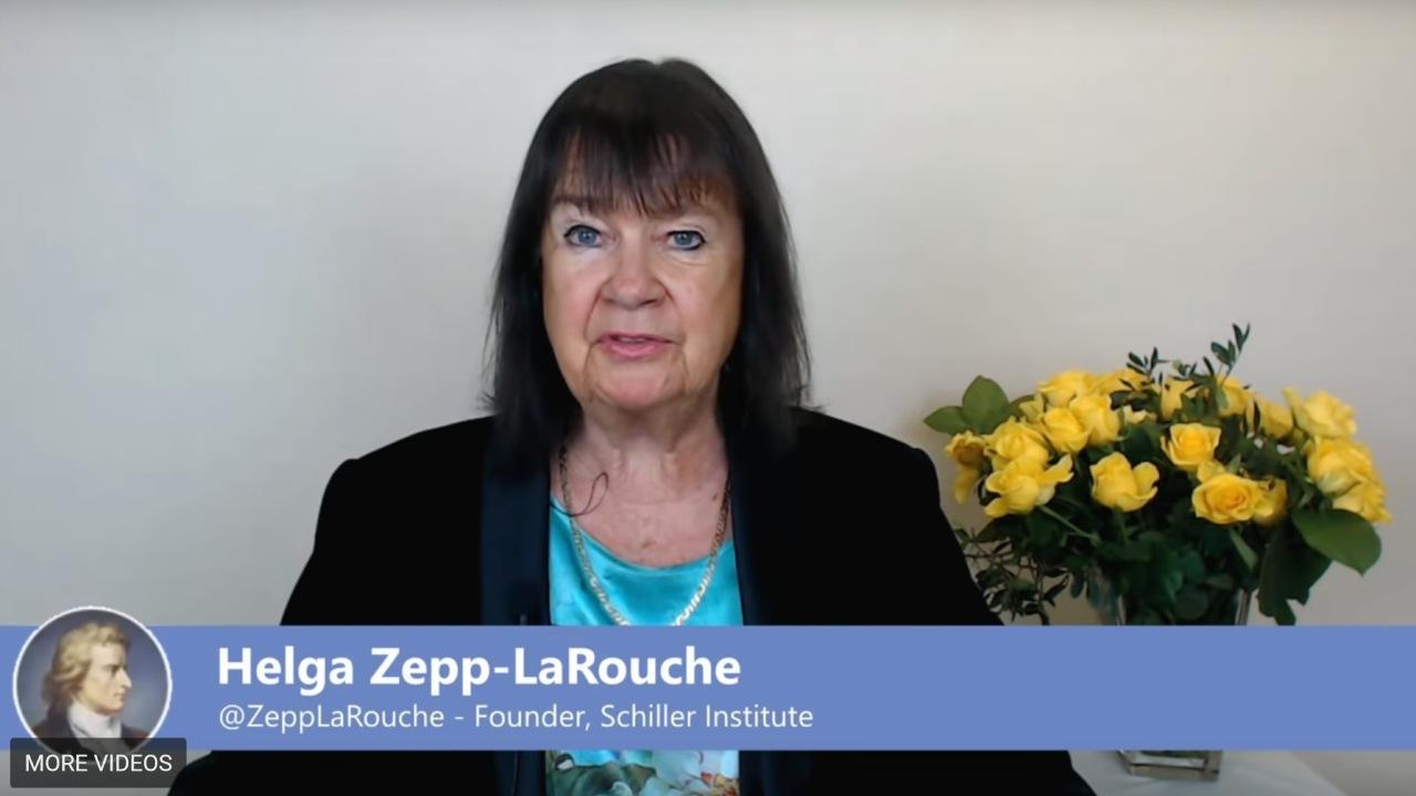 Helga Zepp-LaRouche during her New Year's 2019 Address. (EIRNS/Framegrab)