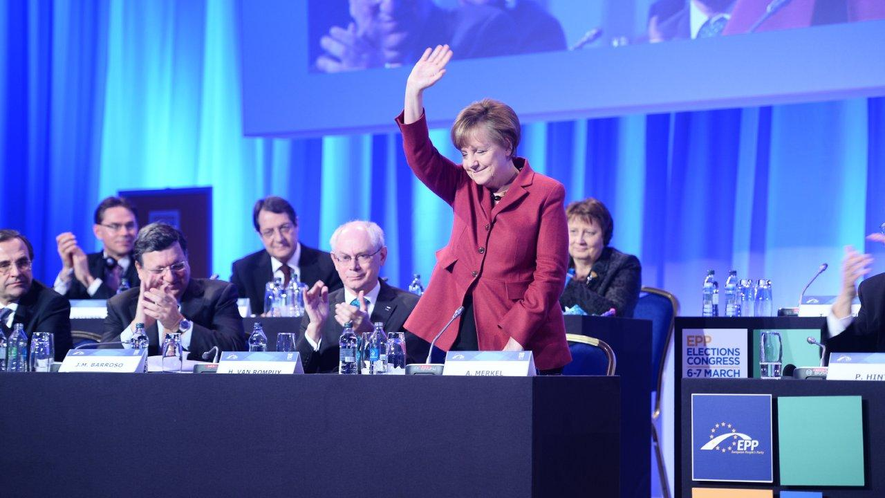 Angela Merkel seen here at the 2014 European People's Party (EPP) Elections Congress. (Photo: EPP)