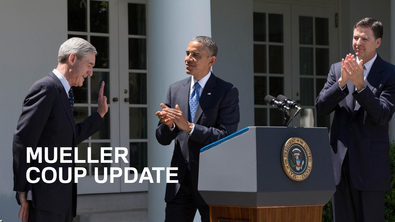 The traitors shown here in 2013, when Obama replaced Mueller with Comey to lead the FBI. (Whitehouse Photo)