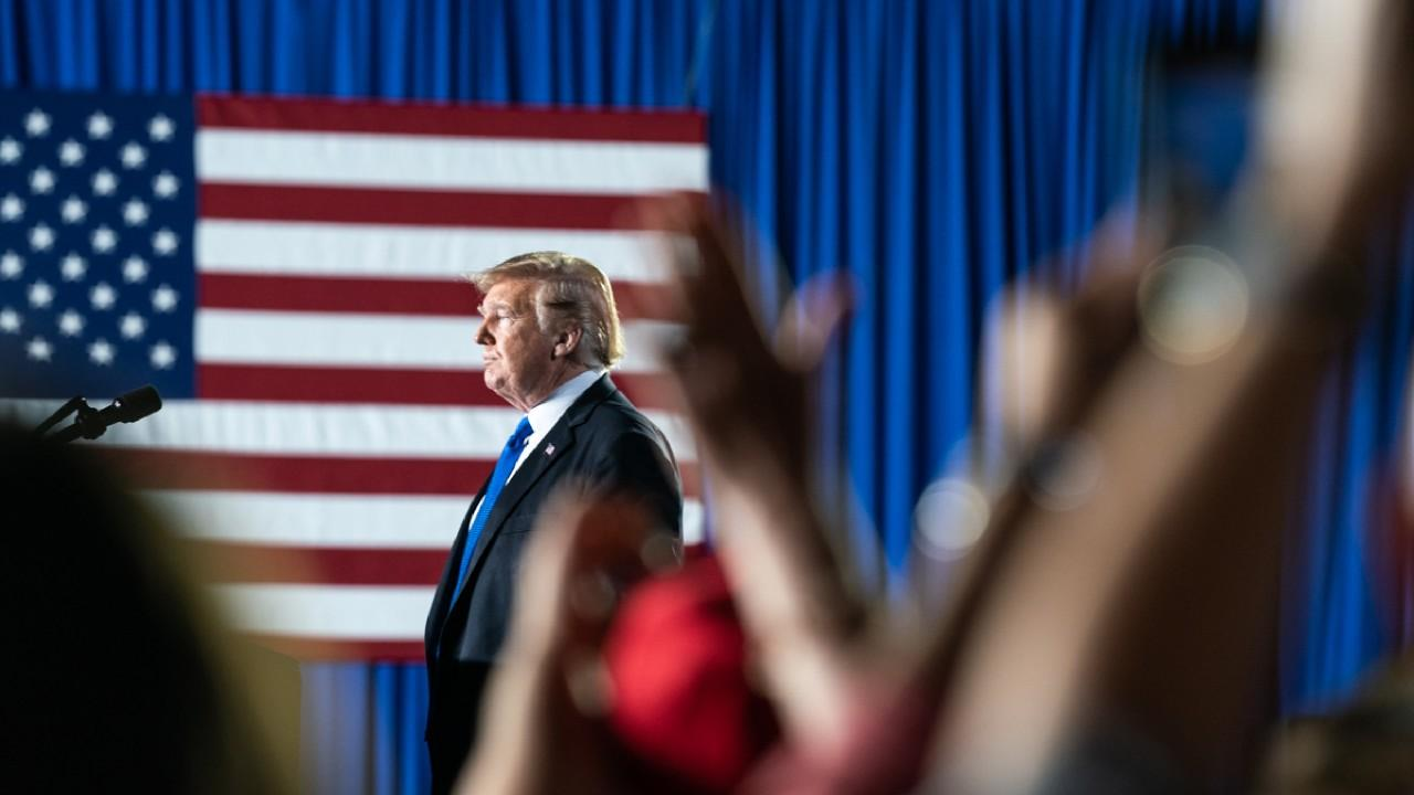 President Donald J. Trump delivers remarks to the Venezuelan American community at the Florida International University Ocean Bank Convocation Center Monday, Feb. 18, 2019 in Miami, Fla. (Official White House Photo by Shealah Craighead)