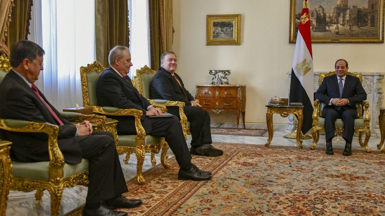 U.S. Secretary of State Michael R. Pompeo meets with Egyptian President Abdel Fattah al-Sisi, in Cairo, Egypt, on January 10, 2019. [State Department photo/ Public Domain]