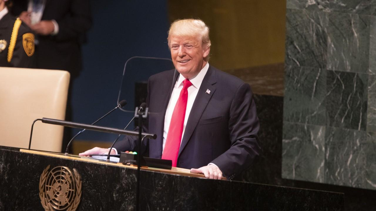 President Donald J. Trump addresses the 73rd session of the U.N. General Assembly Tuesday, Sept. 25, 2018, at the United Nations Headquarters in New York. (Official White House Photo by Joyce N. Boghosian)