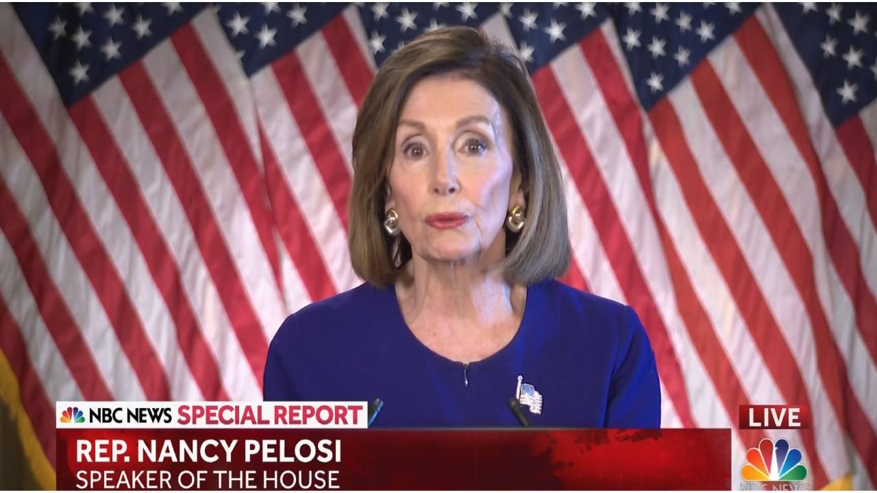 Nancy Pelosi. (NBC Screengrab)