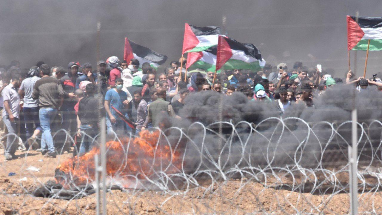 May 14, 2018 at the Gaza Border. (IDF Spokesperson office/ Twitter)