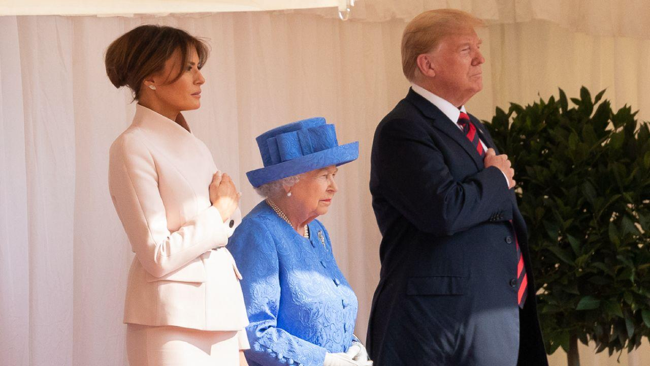 President Donald J. Trump and First Lady Melania Trump visit with Queen Elizabeth II | July 13, 2018 (Official White House Photo by Andrea Hanks)
