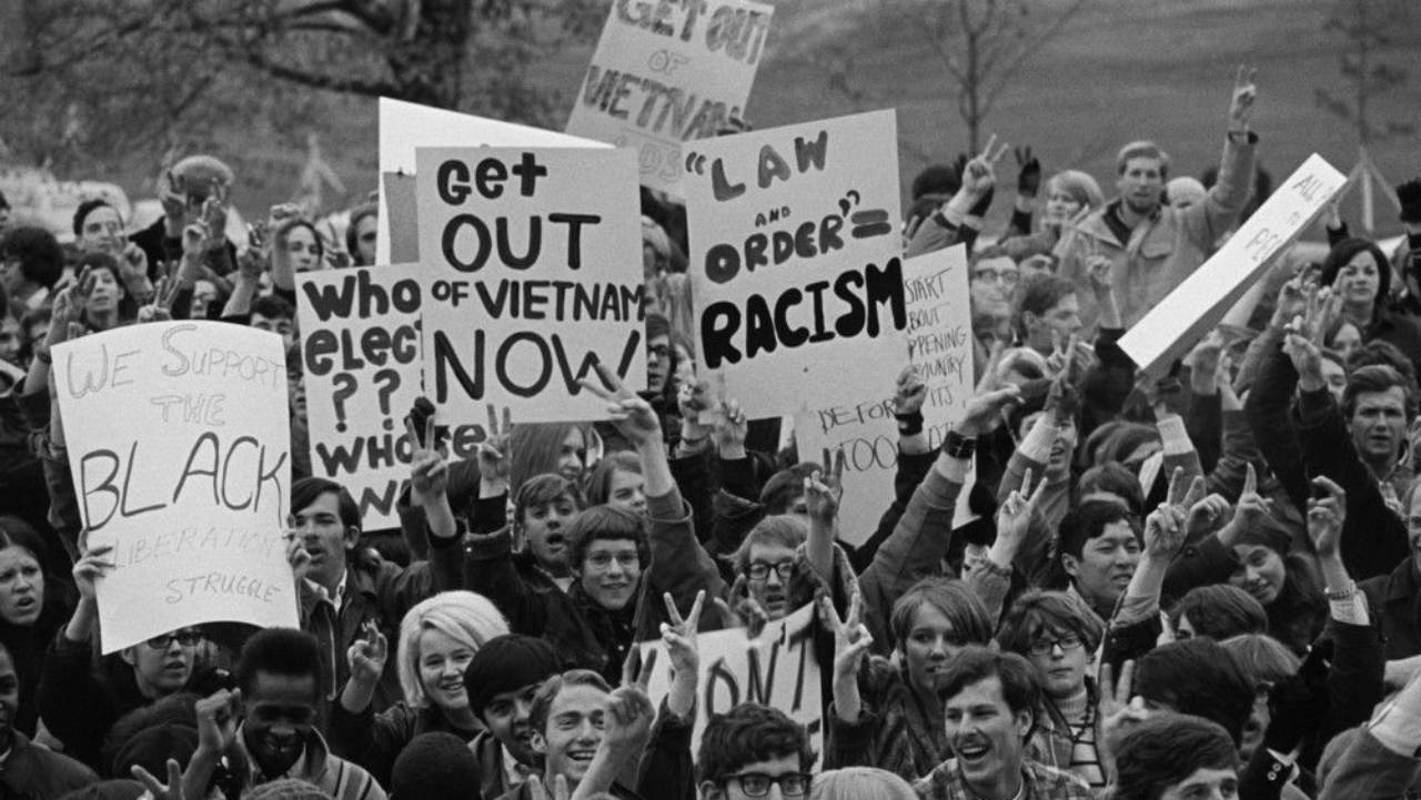 Vietnam War Protest. Late 1960's.