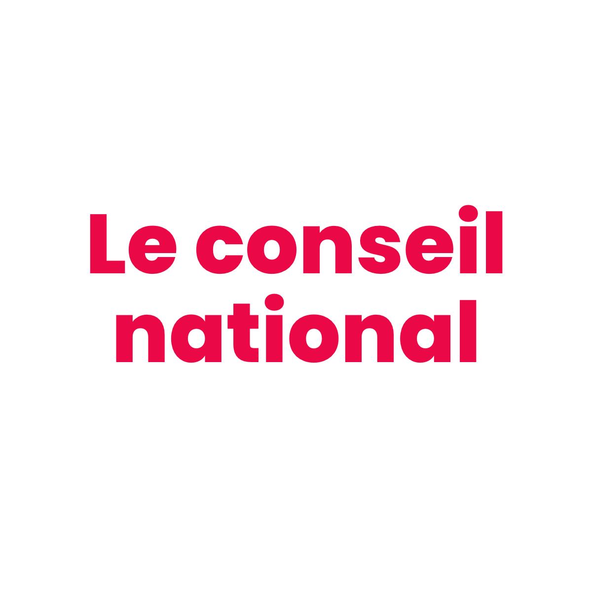 Le conseil national