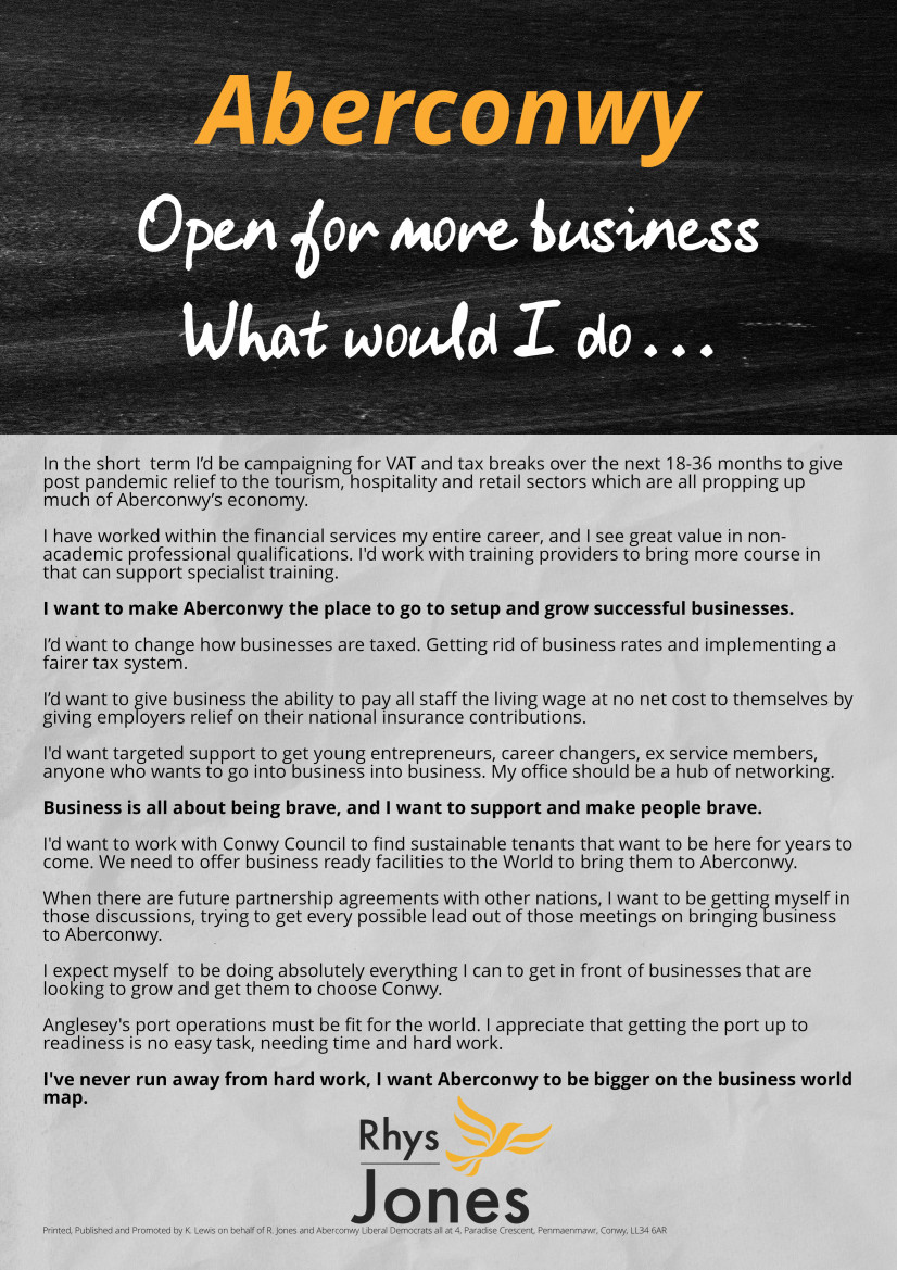 Bringing more business to Aberconwy