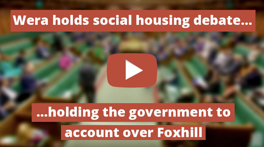 Wera Holds Government to Account over Social Housing in Foxhill