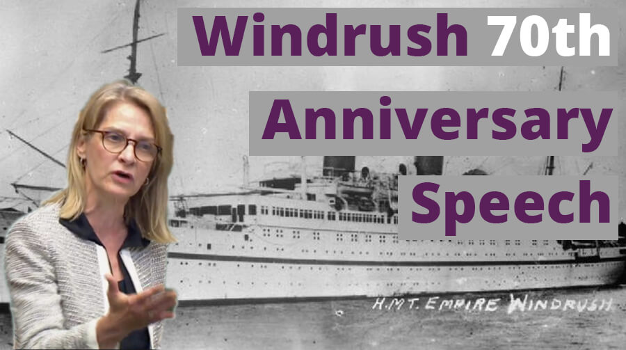 Speech: Windrush 70th Anniversary