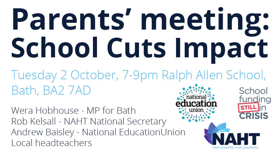 Parents' Meeting To Highlight The Impact Of School Funding Cuts