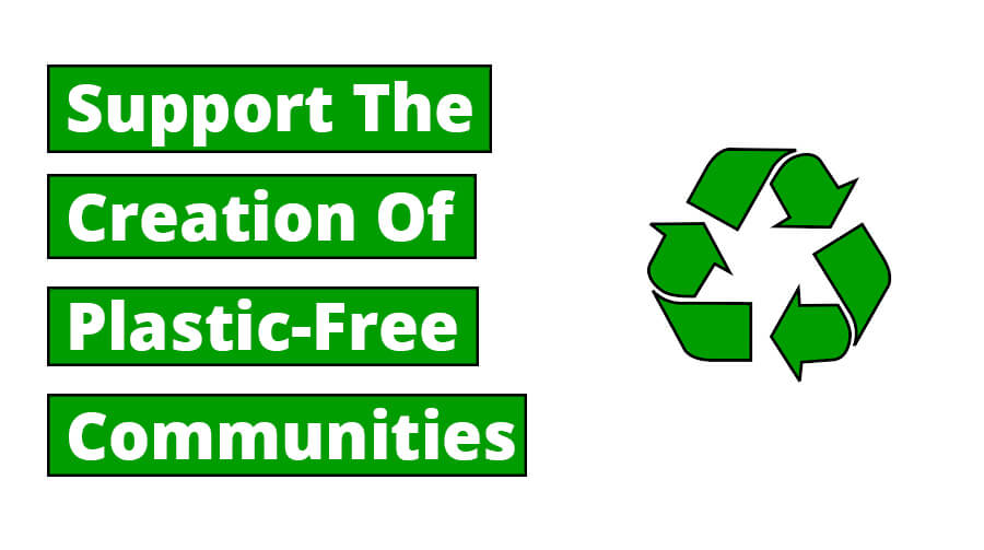 Support The Creation Of Plastic-Free Communities
