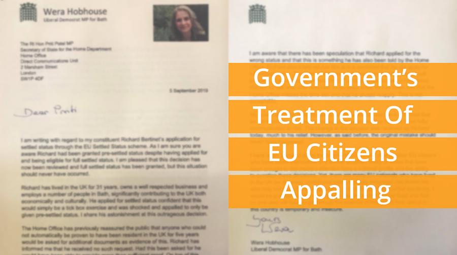 Wera: Government's Treatment Of EU Citizens Appalling