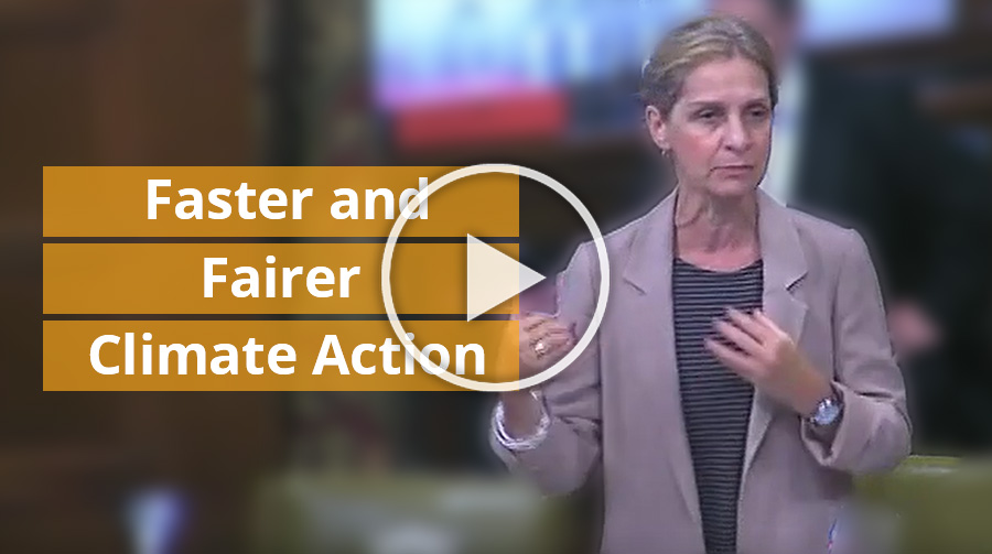 Faster and Fairer Climate Action...