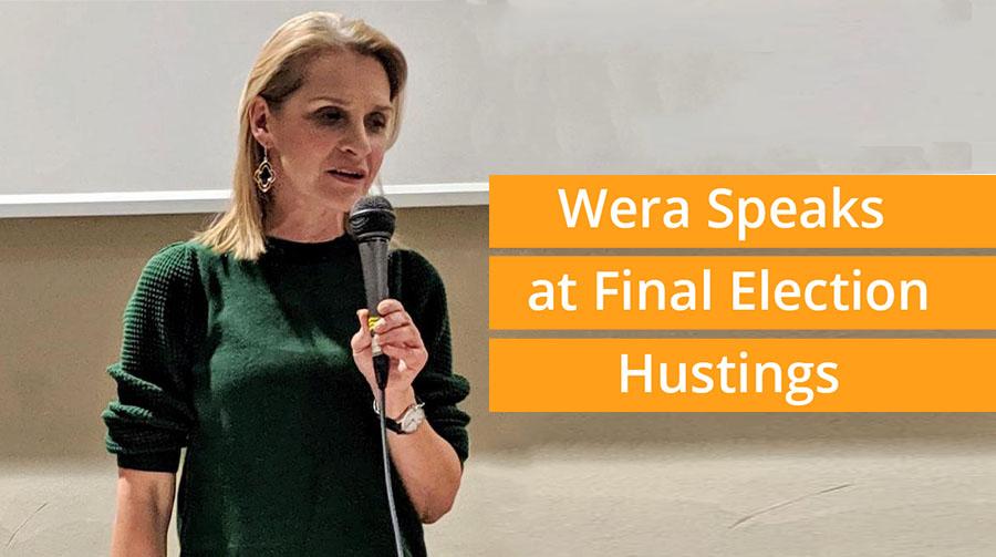 Wera Speaks at Final Election Hustings