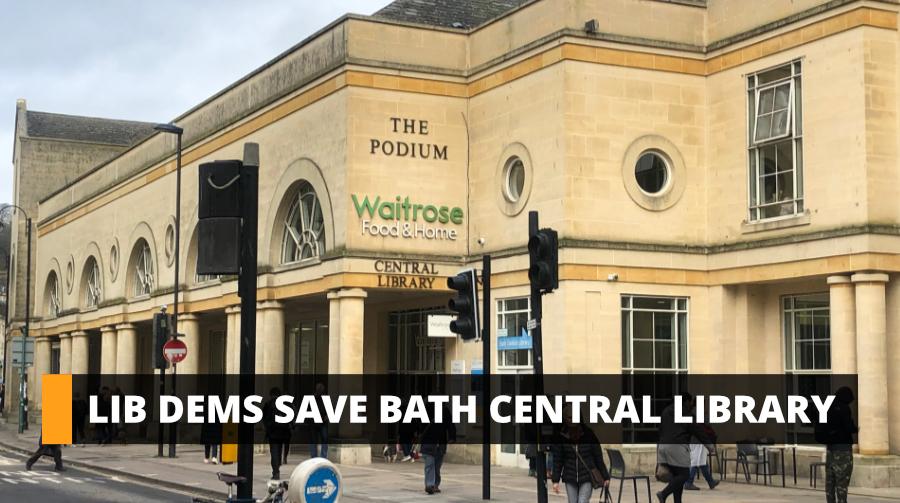 Lib Dems save Bath Central Library
