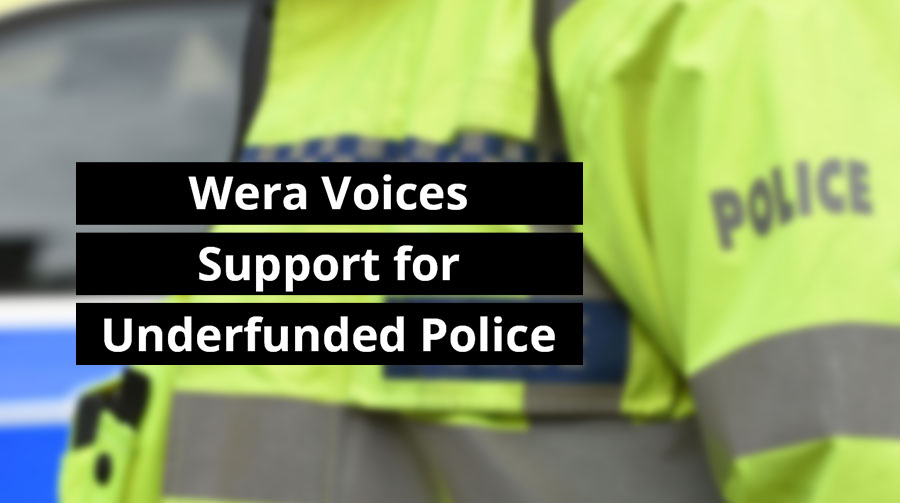 Wera Voices Support for Underfunded Police