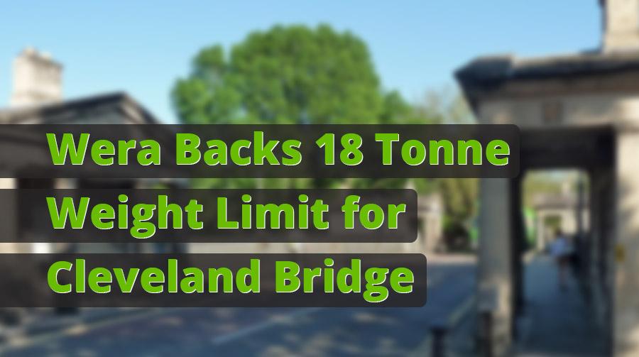 Bath MP Supports Permanent 18 Tonne Weight Limit for Cleveland Bridge