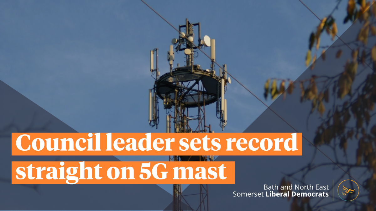 Council Leader sets record straight on 5G mast