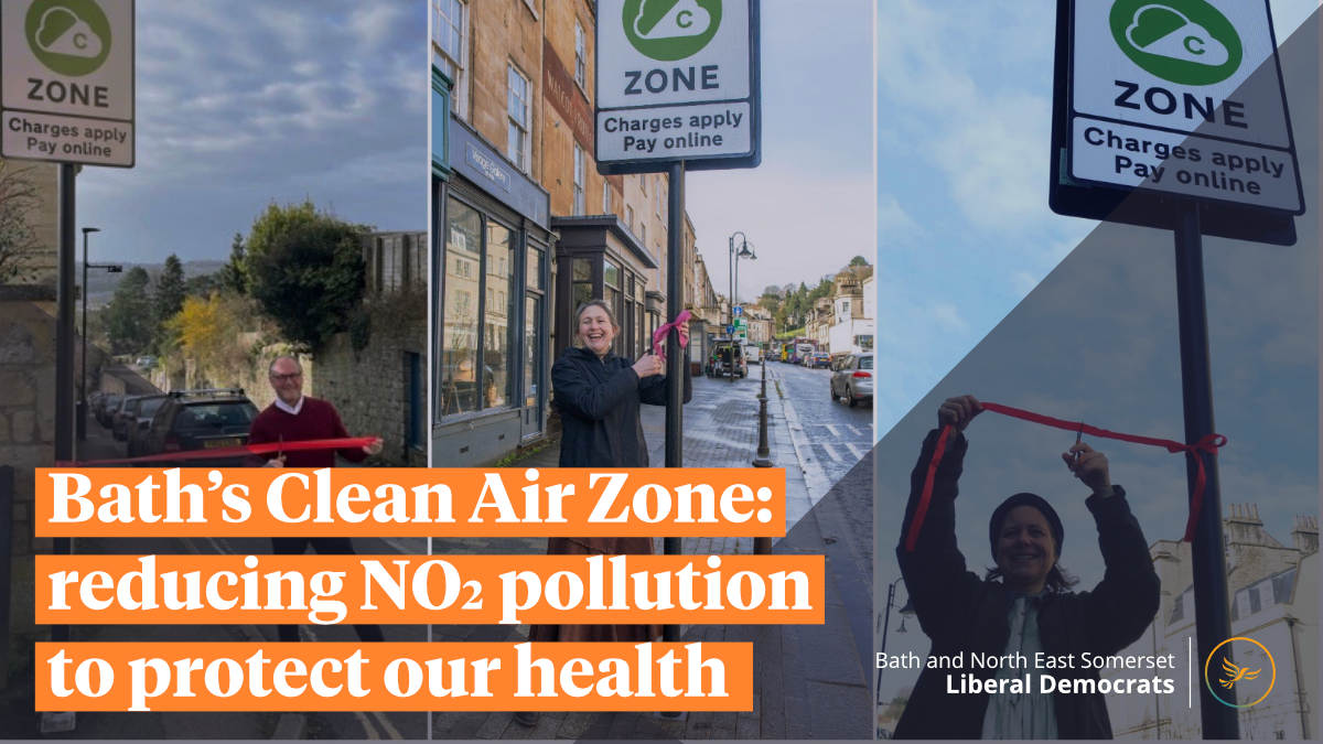 Bath's Clean Air Zone: reducing NO2 pollution to protect our health