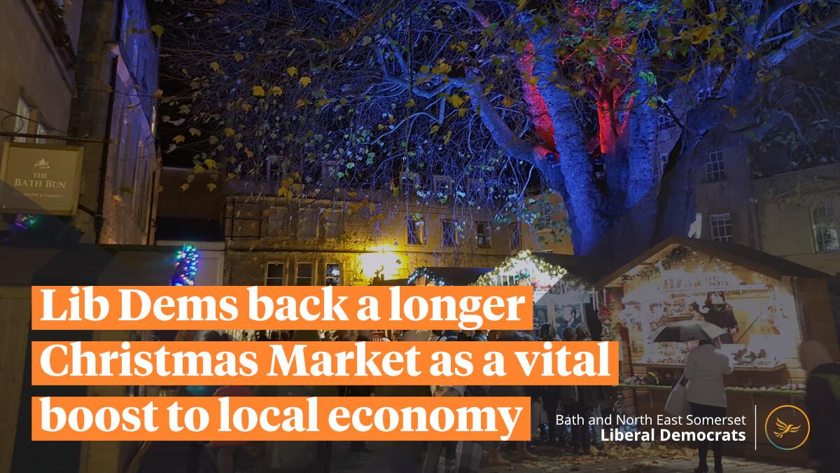 Lib Dems back a longer Christmas Market as a vital boost to local economy