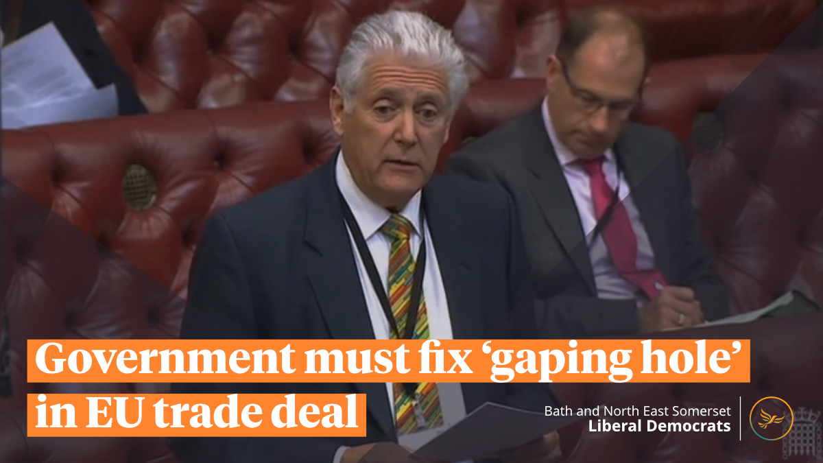Government must fix 'gaping hole' in EU trade deal