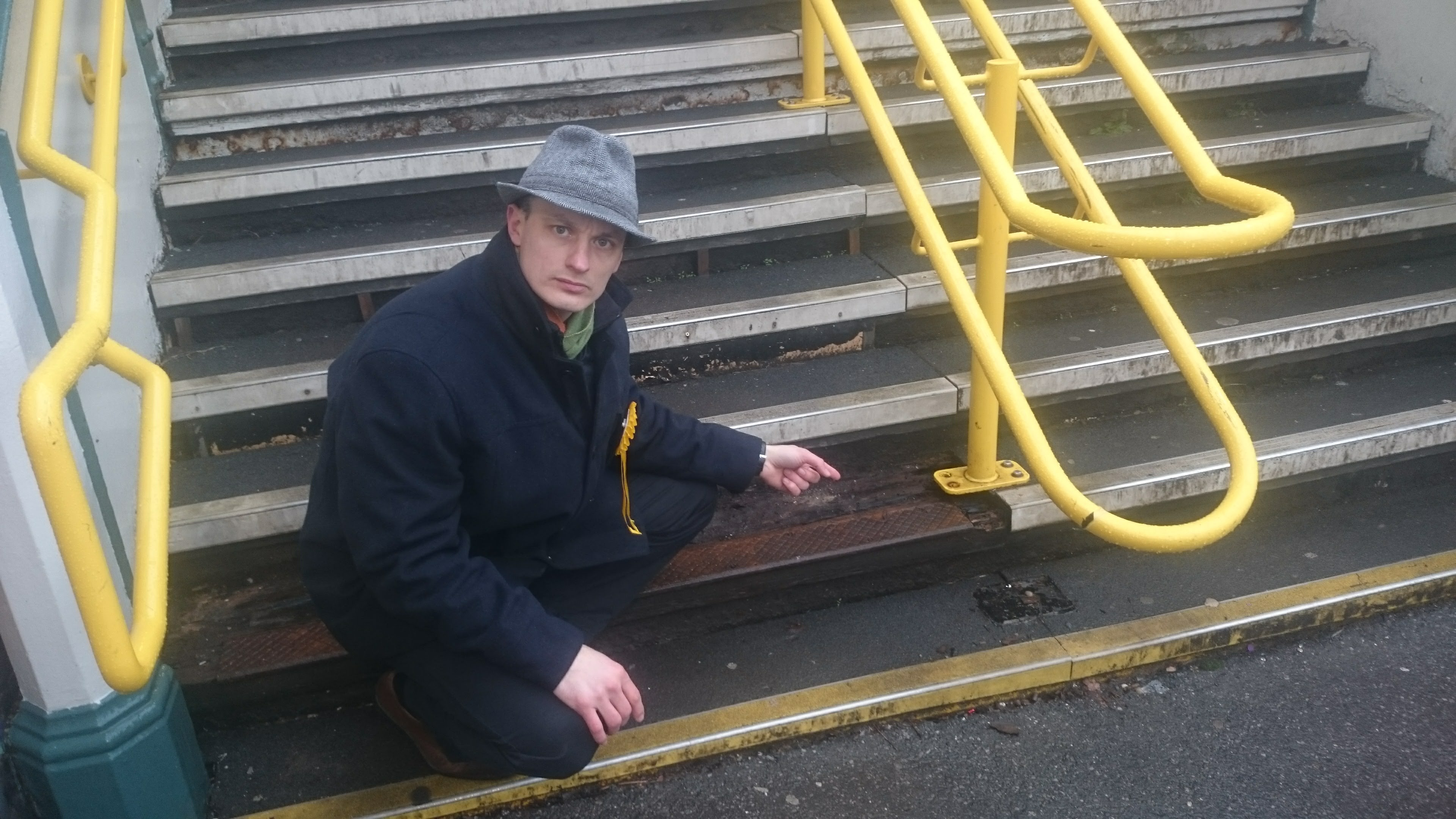 Wandsworth Common station stair hazard with Jon Irwin