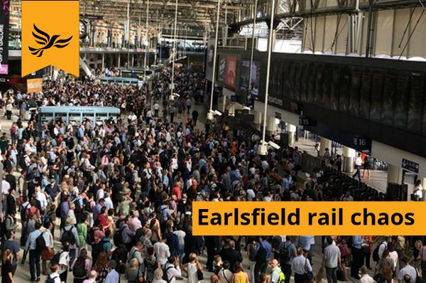 Earlsfield rail chaos