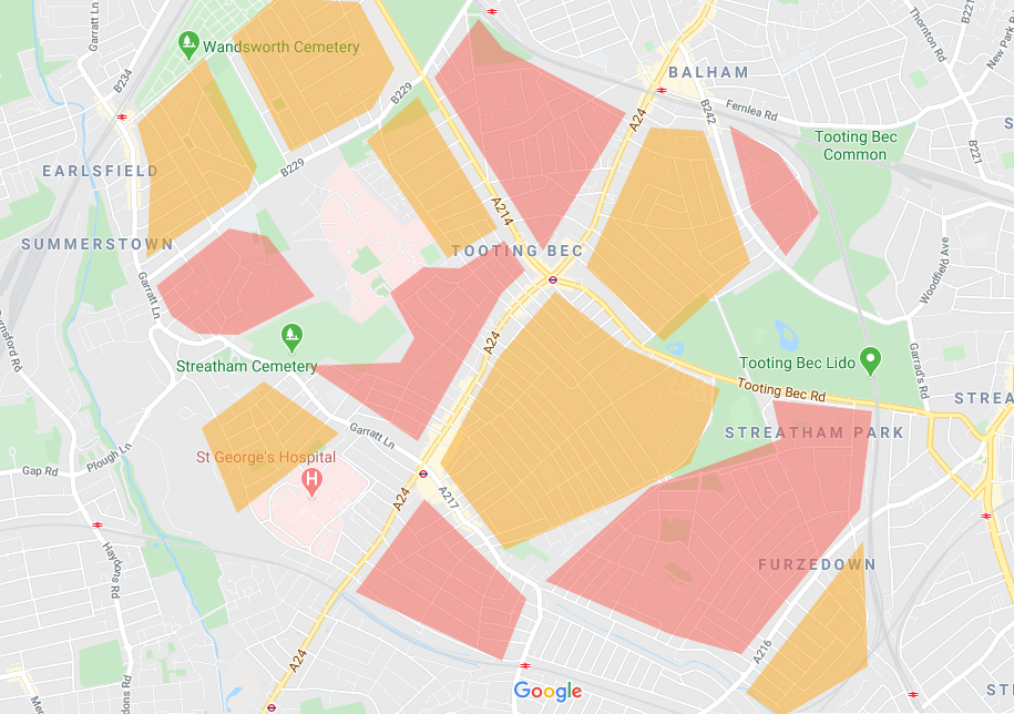 Tooting Neighbourhood Traffic Cells proposal
